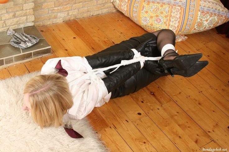 Missey by Bondagebob | Bound in leather skirts | Pinterest