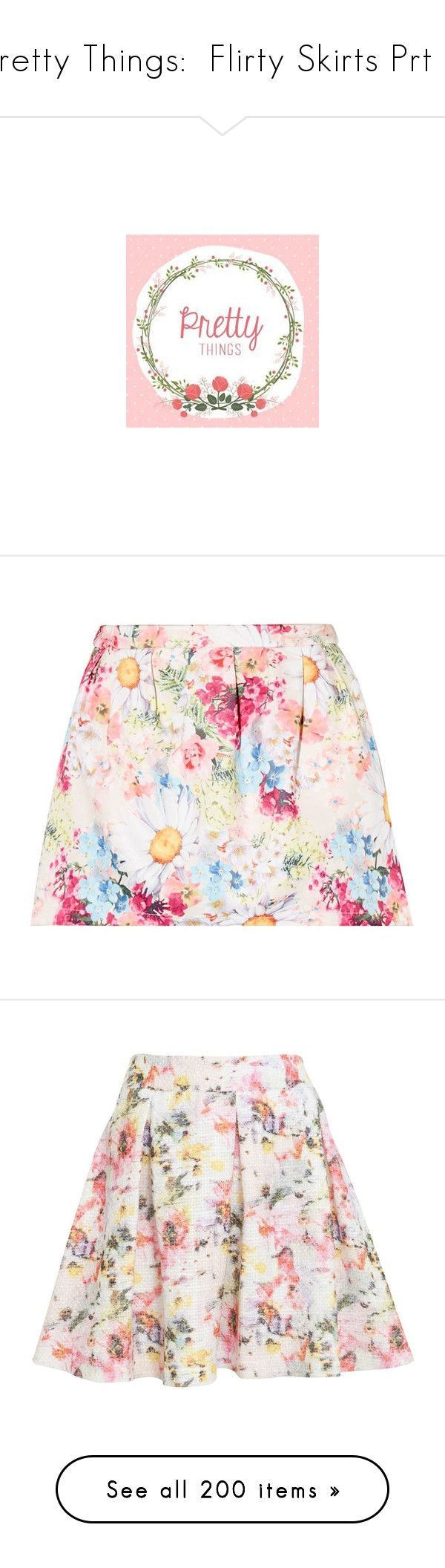 """Pretty Things:  Flirty Skirts Prt 2"" by atomik-concia ❤ liked on Polyvore featuring skirts, mini skirts, mini skirt, short floral skirt, short pleated skirt, white pleated mini skirt, pleated mini skirt, bottoms, saias and faldas"