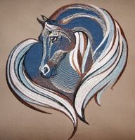 Horse heart design on pillowcase3