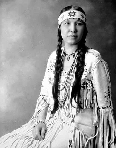 """Princess Redfeather (Tsianina Redfeather Blackstone), born of Creek and Cherokee parents, toured the world as a mezzo-soprano. The opera """"Shanewis"""" was based on her life story which she performed at the New York Metropolitan Opera in 1918 and on the battlefields of France during World War I."""