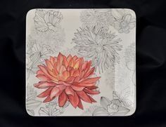 Ceramic Flower Plate by Mirthworkstiles on Etsy