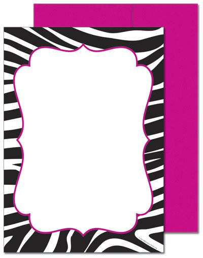 72 best sweet 16 images on pinterest | zebra birthday, birthday, Birthday invitations