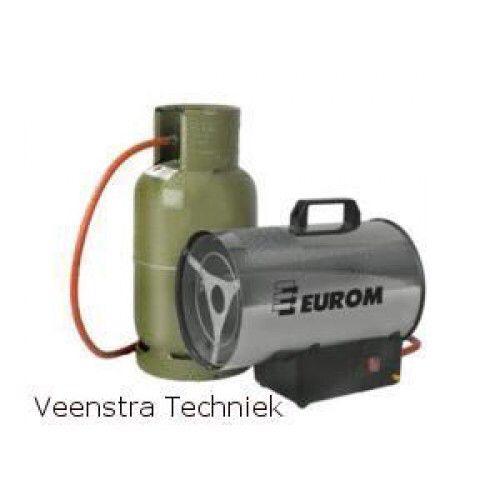 Eurom gasheater Hk15 Specificatie:   - Type HK15 - Capaciteit: 12.725 kcal/h, 14,8 kW  - Motervermogen: 28 W  - Luchtverplaatsing: 500 m3/h  - Aansluitspanning: 230 V  - Brandstof: Propaan / Butaan  - Brandstofverbruik: 1,06 kg/h  - Gasdruk: 0,5 bar  - Beschermklasse: IP44  - Magneetventiel: +  - Oververhittingsbeveiliging