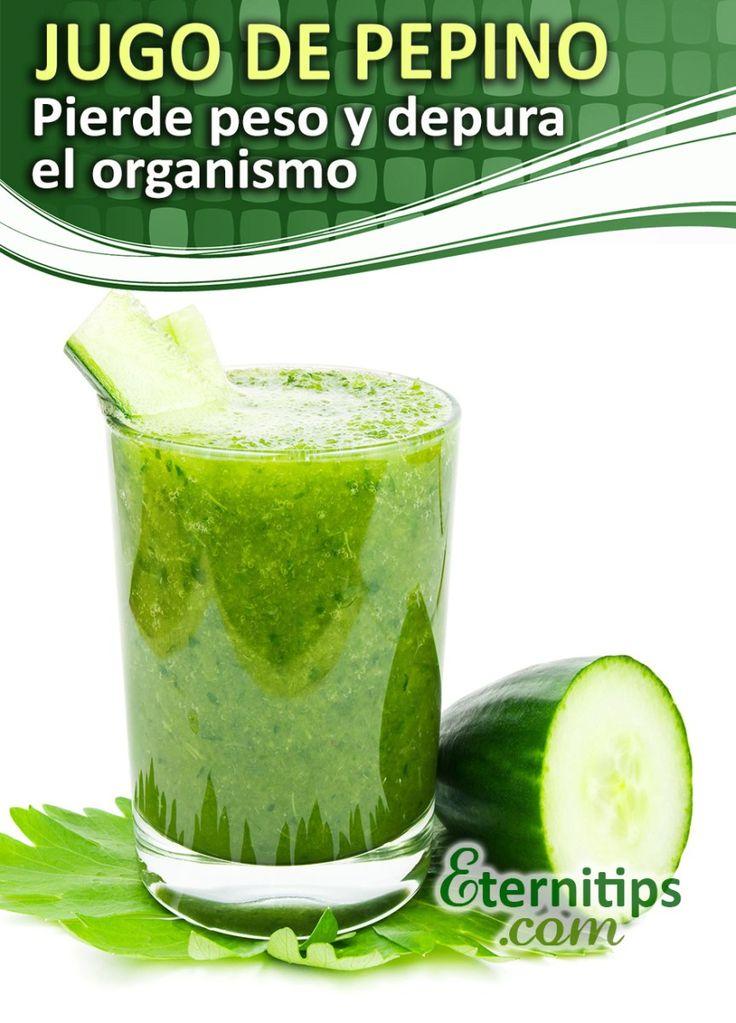 Batido verde y agua de pepino para bajar de peso y adelgazar