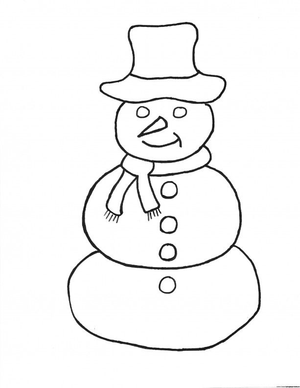 Simple Snowman Coloring Pages Frosty The Snowman Coloring Page