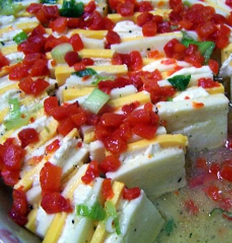 """""""This unique make ahead marinated cheese appetizer recipe is my GO TO appetizer for any party or gathering. It's so easy and my most 100% requested easy cheese appetizer."""""""