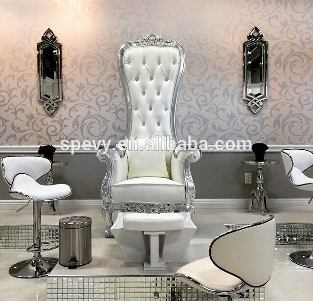 Source Antique white throne t4 spa pedicure chairs with massage function on m.alibaba.com