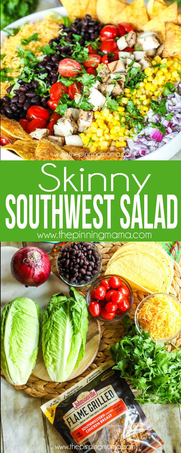 SKinny Southwest Salad Recipe - Packed with flavor but light enough to keep you feeling great! Sponsored by Johnsonville.