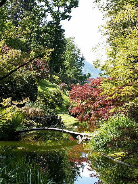 Gardens at Villa Melzi in Bellagio, Lake Como, Italy