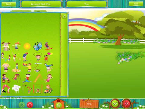 """Outdoor Fun ($2.99) Review from @bridgingapps- """"designed to provide speech pathologists with a fun and flexible tool to practice expressive and receptive language skills. This app requires direct interaction with a therapist to be used effectively. With help, it can be used to teach following directions, understanding and using prepositional phrases, answering questions, verb use and personal pronoun use."""" http://bridgingapps.org/2014/07/bridgingapps-reviewed-app-outdoor-fun/"""