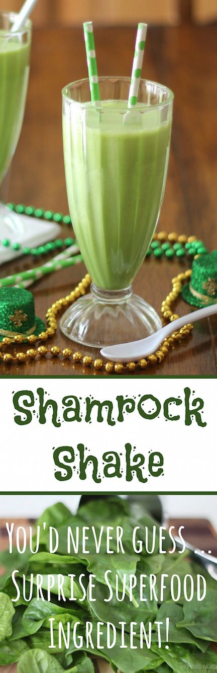 This deliciously fun Shamrock Shake copycat recipe is just bursting with nutrition (and no artificial colors) ... thanks to a surprising superfood! You'll be shocked at how healthy it is ... yet it tastes just like its namesake original! Totally kid approved! ~ www.TwoHealthyKitchens.com