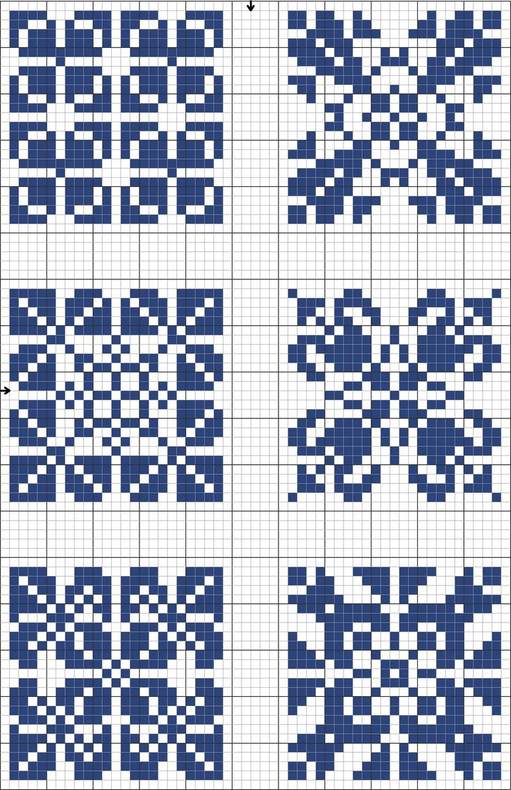 Cross stitch decorative tile template. Blue tiles 03
