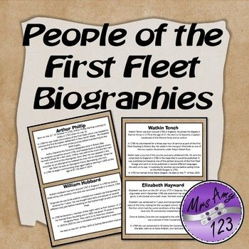 People of the First Fleet Biographies
