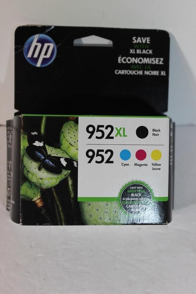 Genuine HP 952 XL Black & Color 4 Printer Ink Cartridges OEM NEW IN PACK- DEAL!  | eBay