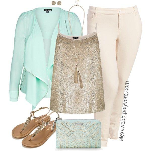 "#plus #size #fashion #alexawebb ""Plus Size - Spring Jeggings"" by alexawebb on Polyvore @alexandrawebb"