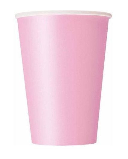12-Ounce Light Pink Paper Cups set of 24 by FunWithPearl on Etsy