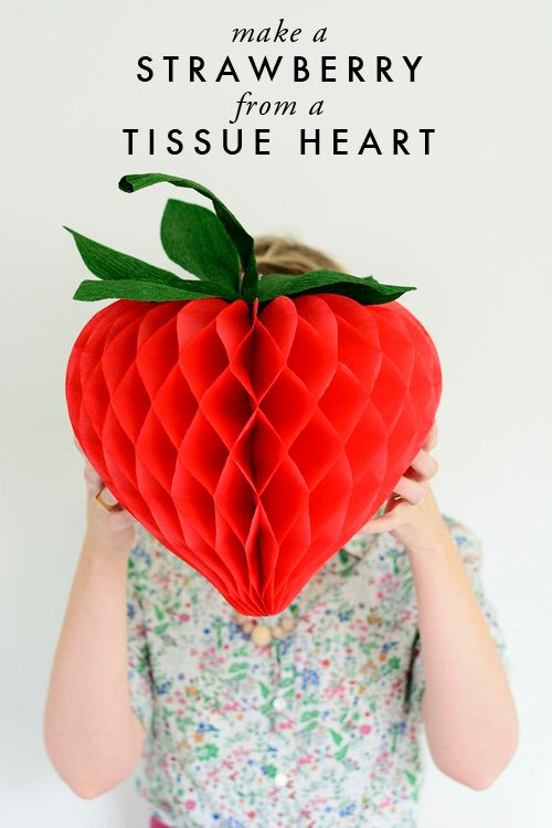 DIY strawberry heart by The House That Lars Built.