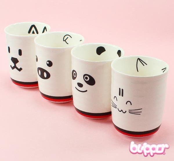 Tazas Animales #kawaii - Animal cup                                                                                                                                                                                 Más