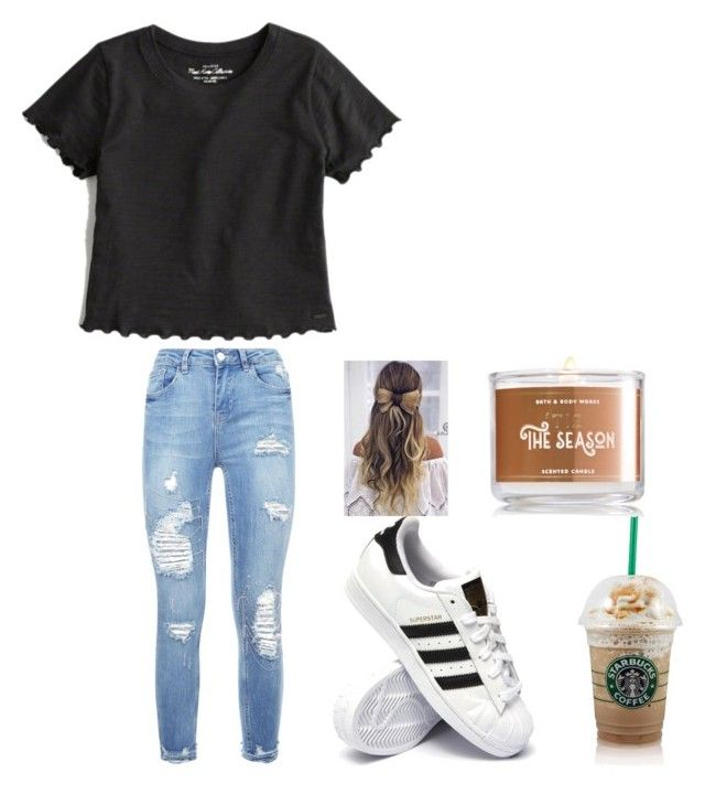 """""""Untitled #107"""" by denisse-12345 on Polyvore featuring adidas and Hollister Co."""