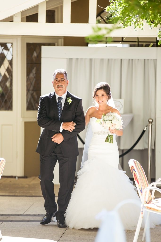 Beautiful bride with her Dad walking her down the aisle www.daveandcharlotte.com.au