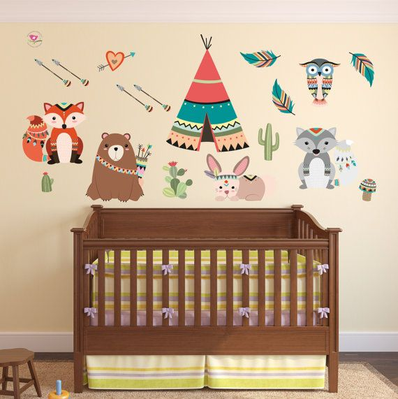 Woodland Wall Decor 15 best woodland nursery wall stickers images on pinterest