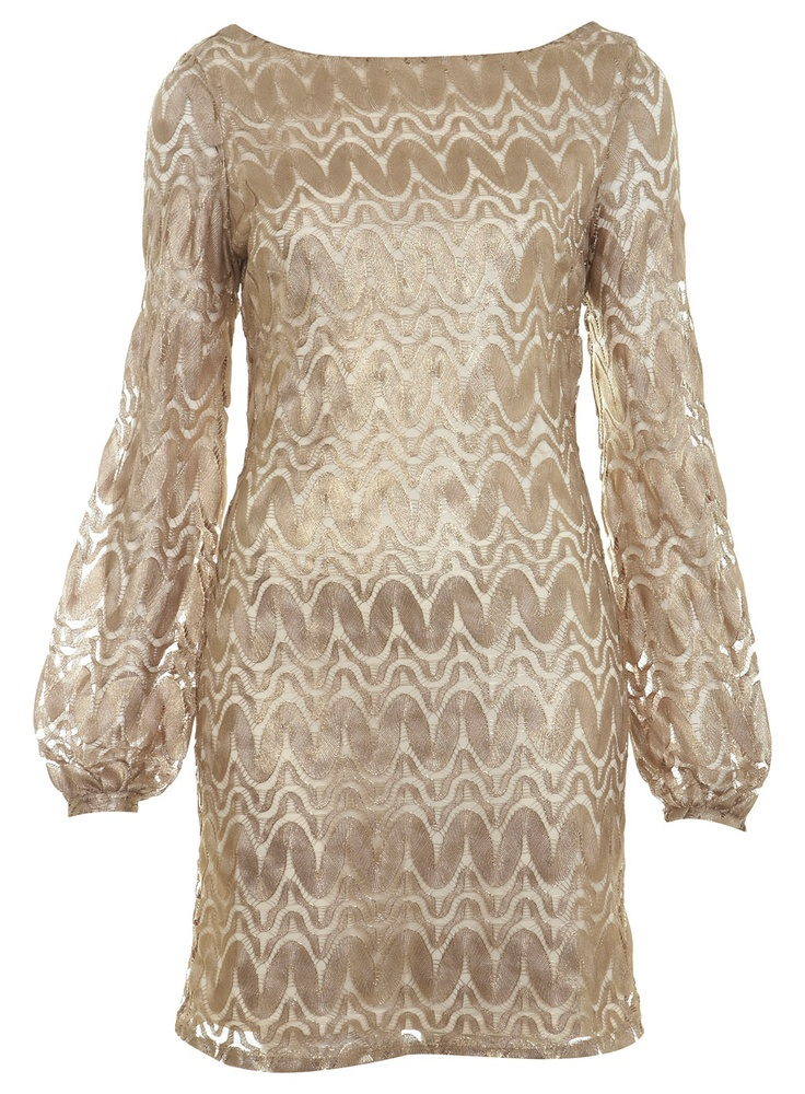 gold zigzag dressDresses Shops, Fashion Dresses, Zigzag Dresses, Fashion Style, Style Inspiration, Dresses Ideas, Gold Zigzag, Miss Selfridge, Lace Dresses