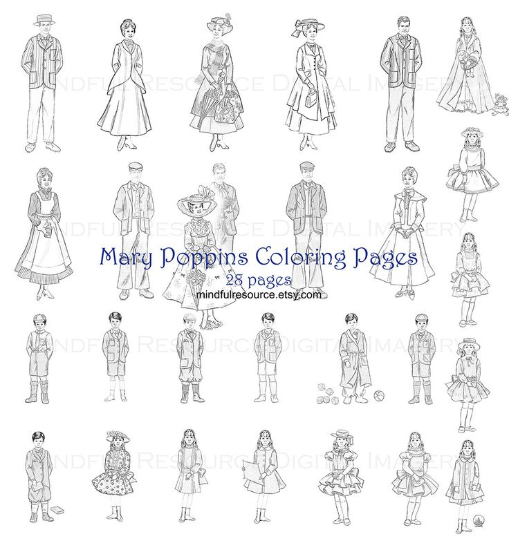 mary poppins coloring pages book - photo#36