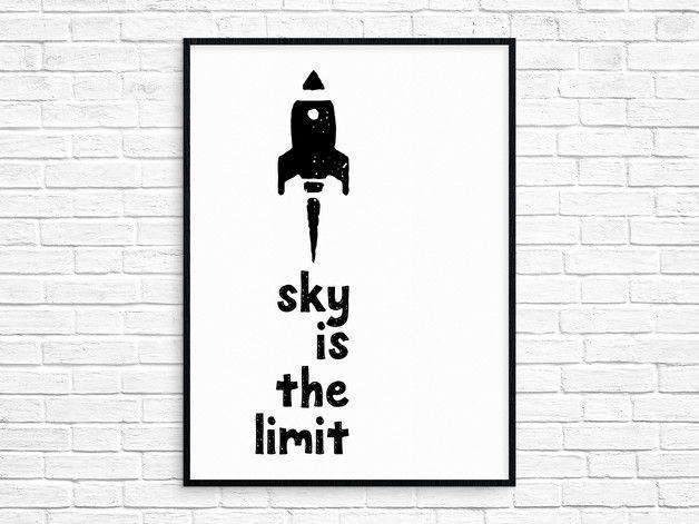Plakat 40x50 cm Sky Is The Limit