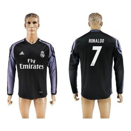 Real Madrid 16-17 Cristiano #Ronaldo 7 TRödjeställ Långärmad,304,73KR,shirtshopservice@gmail.com