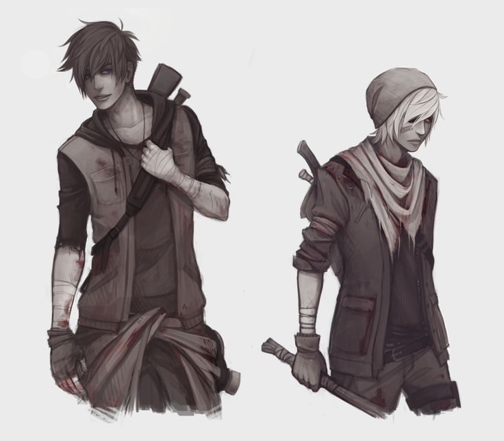 Top model apocalypse by Naimane.deviantart.com on @DeviantArt~~~ this looks so much like how I pictured Calder and Crow