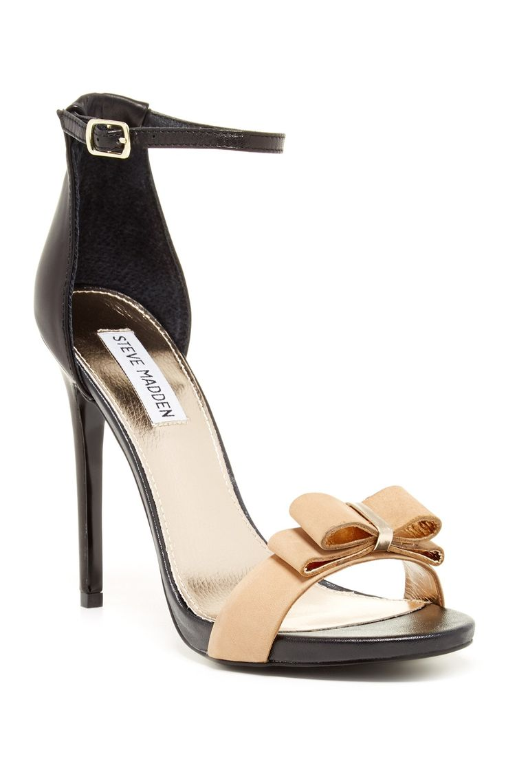 Open toe - Contrast bow detailed vamp strap