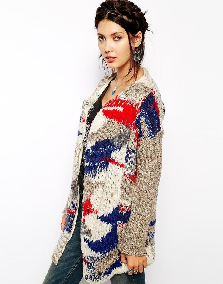 Free People Fireworks Coatigan in Chunky Yarn