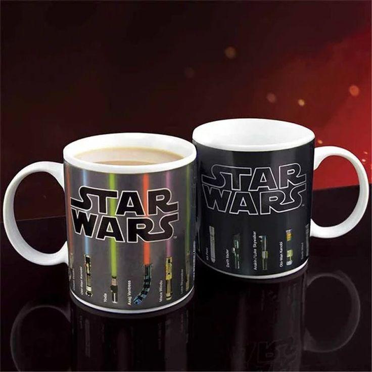Star Wars Lightsaber Heat Reveal Mug Color Change Coffee Cup Sensitive Morphing Mugs Temperature Sensing Birthday C004