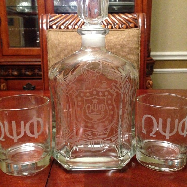 Omega Decanter set from Greek Glassware for $15.00