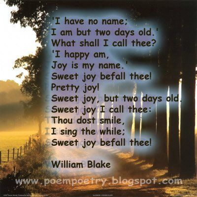 william blake compare infant joy I chose william blake's infant joy and infant sorrow, because they represent two different perspectives of innocence i particularly liked infant joy, due to its dark symbolism, imagery, and figurative depiction of innocence.