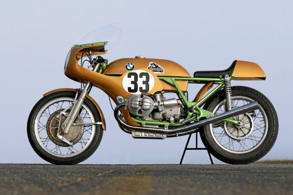 Helmut Dähne's TT winning (factory class) BMW 750cc Imola racer. In 1972 the German mechanic turned racer rode this BMW R 75/5 based TT race...