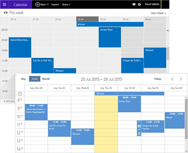 Calendar Planner In Asp : Best asp event and booking calendars schedulers