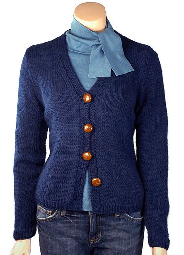 Simple cardigan pattern- easy to adjust for your own style