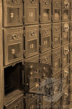 Bedroom Closet - Could I store shoes in a vintage post office box cabinet? They have little windows to see in but I may need one with large windows...
