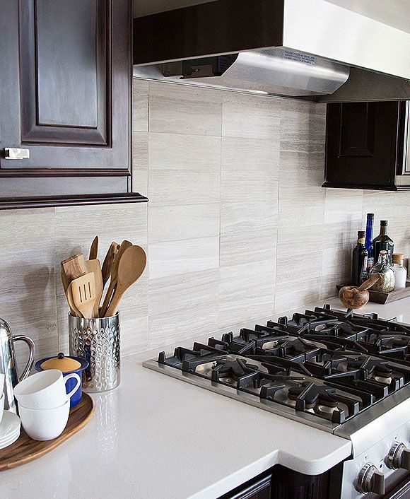 Subway Gray Marble Kitchen Backsplash Tile Backsplash Com