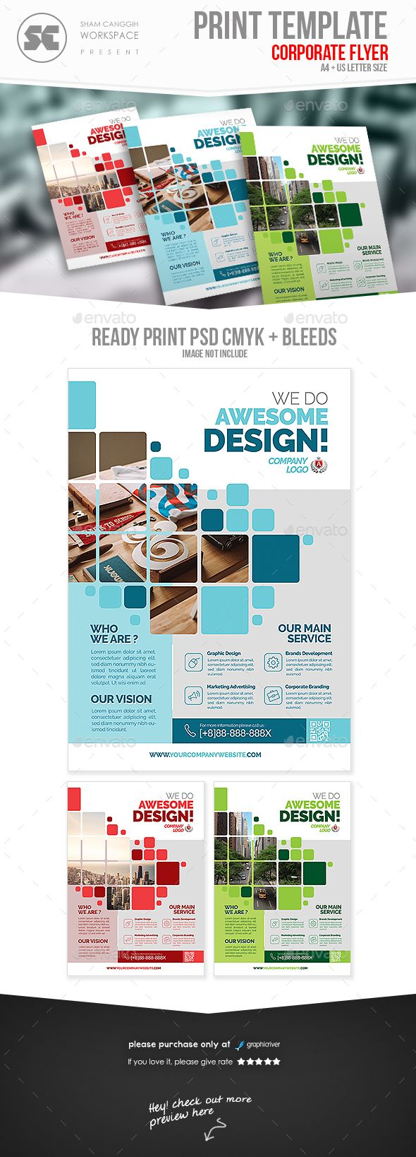 Corporate Business Flyer — Photoshop PSD #print ready #product • Available h...
