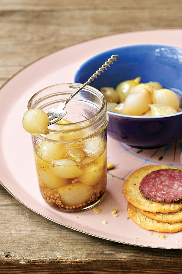 Use these crisp, tart onions as sandwich toppers, martini garnishes, or interesting additions to meat-and-cheese platters.    Recipe:Pickled Pearl Onions