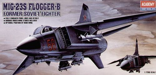 "Mikoyan MiG-23S ""Flogger B"". Academy, 1/72, injection, No.12445. Price: 5,62 GBP."
