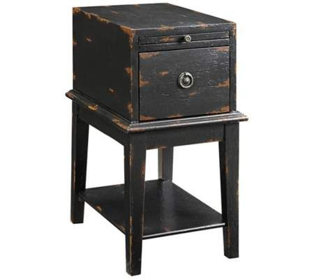 Superb Tandi Distressed Black End Table | 55DowningStreet.com