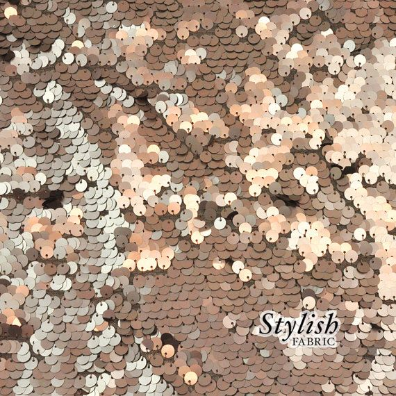 All-over Round Malt Sequins Fabric Gold Copper Malt Sequined Fabric Shiny Fabric by the yard Sequins - 1 Yard 2707