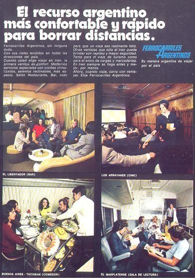 Publicidad institucional de FERROCARRILES ARGENTINOS, década del 70.
