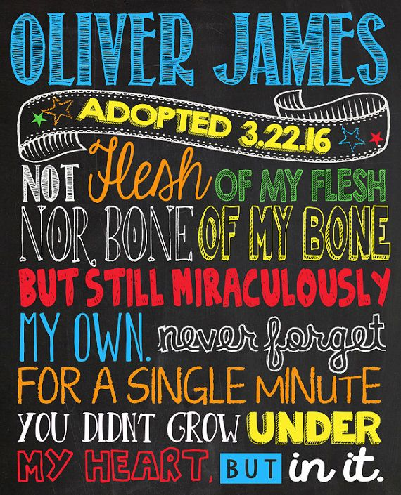Printable Adoption Announcement Sign Digital by CustomChalkPosters