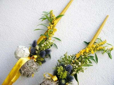 yau concept _ yau flori+lumanari de cununie