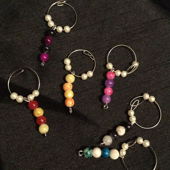 Wine charms by DesignsBySunshineUK on Etsy