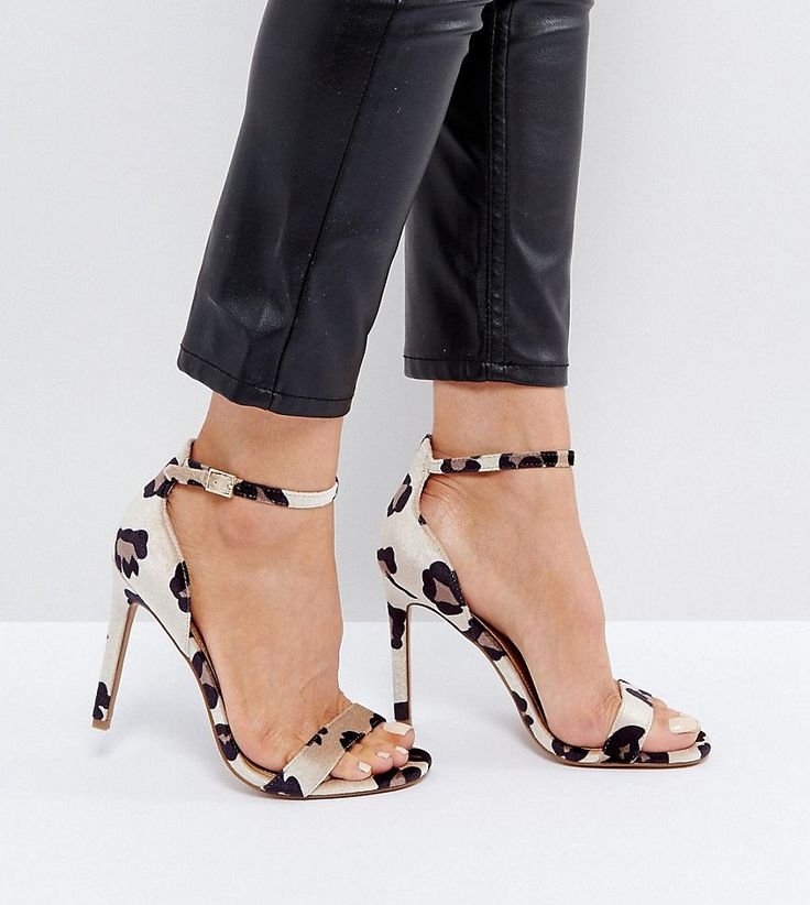 ASOS HANG TIME Barely There Heeled Sandals - Brown